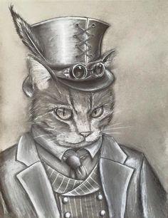 steampunk cat - Поиск в Google