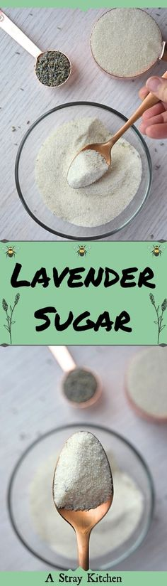 Lavender Sugar is the perfect way to dress up your baked goods and teas and take them to the next level in flavor. It's a super easy recipe and makes a great gift for the lavender lover in your life.   #lavender #sugar #bakingtricks #homemadegiftidea #easyrecipe #spices
