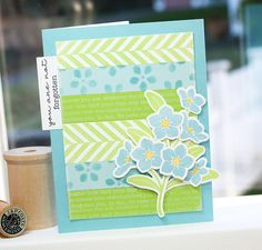 Forget Me Not, Textile Backgrounds, Spring Flowers Stencil - Lisa Johnson #mftstamps
