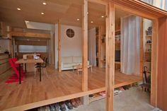 Wooden Residential Structure in Japan With Interesting Details