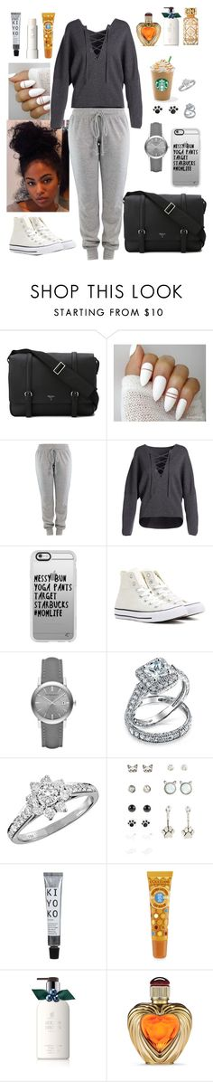 """""""Life"""" by farrabee ❤ liked on Polyvore featuring Serapian, Vince, Casetify, Converse, Burberry, Bling Jewelry, Tiffany & Co., Ilia, Molton Brown and Victoria's Secret"""