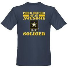 Proud U.S. Army Brother T-Shirt by eteez