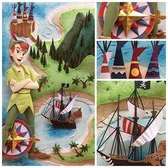 Peter Pan paper sculpture made for @karinaffridman by Karin Arruda
