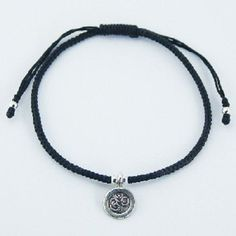 DESIGNER BRACELET ON BLACK MACRAME WAXED COTTON with ANTIQUED  SILVER OM CHARM  NOW $18.95aus .....................With FREE SHIPPING WORLD WIDE.. SAVE THIS PIN OR BUY NOW FROM LINK HERE http://www.ebay.com.au/itm/-/172551607875?ssPageName=ADME:L:LCA:AU:1123