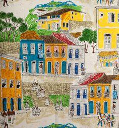 Coleção Brasiliana por Attilio Baschera e Gragório Kramer - Pelourinho - Donatelli Tecidos