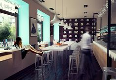 Wedel cafe in Warsaw, competition project