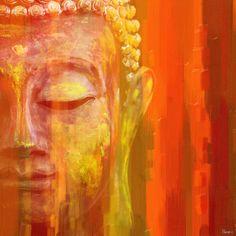 Parvez Taj 'Buddha' Canvas Art - Overstock™ Shopping - The Best Prices on Canvas Art