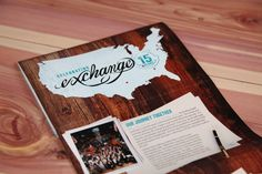 Timeline brochure for The John Maxwell Co. celebrating 15 years of the Exchange Event.
