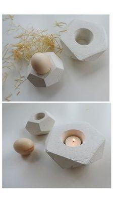 Porta-velas de cimento é moderno, diferente e dá outra cara qualquer ambiente.