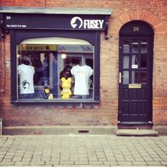 Photo of Fusey exterior, the menswear boutique owned by Joey Essex. 20 Crown Street, Brentwood Essex CM14 4BA