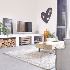 Ilse's Scandinavian style house in Arnhem Home Living Room, Interior Design Living Room, Living Room Decor, Living Spaces, Bedroom Decor, Deco Paris, Living Tv, Boho Deco, Home And Deco
