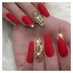 Gold glitter nails ❤ liked on Polyvore featuring beauty products, nail care and nail treatments