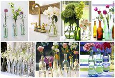 Olá Pessoal, O que é possível fazer com algumas garrafas de vidro? Eu lhes digo: Lindos Arranjos de Mesa para sua Casa ou mesmo para a Decoração de uma Festa! Belos Vasos…. Lindas Garrafas&#8…