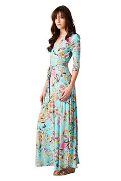 Beloved Embossed Maxi Dress-Mint - 1018 West