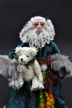 Your place to buy and sell all things handmade Father Christmas, Family Christmas, Crushed Velvet Leggings, Black Leather Gloves, Saint Nicholas, Neck Piece, Vintage Santas, Hair And Beard Styles, Christmas Traditions