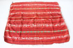 This baby carrier fabric made by hand from Hill Tribe in North Thailand. Baby Carriers are made before the baby is born to distinguish the different family of tribe. These fabric can be used as tapestries, bags, pillows, make into dresses and anything you can put together. #ethniclanna   Length - 1.27 M.  Height - 1.40 M.