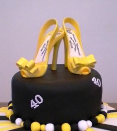 Gum paste shoe / sugar paste Shoe / Cake Topper / Gift / Cake Decoration. $28.00, via Etsy.