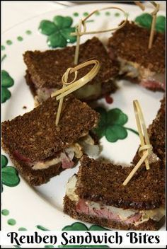 We love serving traditional foods this week like corned beef and cabbage and Reuben sandwiches. I created this appetizer recipe of bite size Reuben Sandwich Bites for a St Easy Dinner Recipes, Appetizer Recipes, Great Recipes, Dessert Recipes, Amazing Recipes, Delicious Recipes, Gooseberry Patch Cookbooks, Bite Size Appetizers, Reuben Sandwich