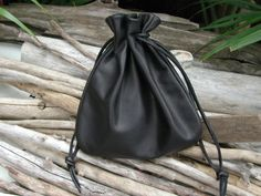 Camera Lens Bag-Leather Pouch Bag-Drawstring Pouch Bag - Extra Large Pouch -Lens Bag -Camera Bag-Handmade In The USA By Shirlbcreationstoo Black Leather Bags, Leather Pouch, Leather Handbags, Leather Bags Handmade, Handmade Bags, Mens Pouch, Sack Bag, Coin Bag, Drawstring Pouch