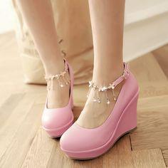 Kawaii sweet wedges shoes