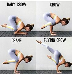 Yoga Asana * From baby crows to flying crows - Yoga & Fitness Yoga Asa . - Yoga Asana * From Baby Crow to Flying Crow – Yoga & Fitness Yoga Asana * From Baby Crow to Flying - Yin Yoga, Yoga Meditation, Yoga Fitness, Fitness Workouts, Fitness Goals, Insanity Fitness, Fitness Diet, Fitness Motivation, Workout Challenge
