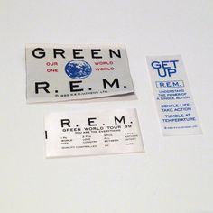 R.E.M. Green World 1989 Vintage Tour Clothing by MohawkMusic