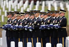 Army honor guard held 14 flags during a group burial at Arlington National Cemetery in Arlington,Va., Frida, for 14 troops who died in the August 2011 helicopter crash in Iraq. Warrant Officer, Army Infantry, Unknown Soldier, The Valiant, Honor Guard, Thing 1, Military Pictures, Support Our Troops, United States Army