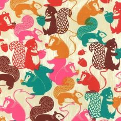 Squirrel patterned fabric cotton - as worn by Taylor Swift in new music video - now I'll just have to sew a pair of PJs :) Diy Arts And Crafts, Crafts To Do, Color Patterns, Print Patterns, Cool Aprons, Squirrel Girl, All Gods Creatures, Woodland Creatures, Chipmunks