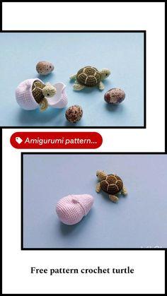 Crochet Animal Patterns, Crochet Patterns Amigurumi, Crochet Animals, Toy Turtles, Plush Pattern, Crochet For Beginners, Stuffed Toys Patterns, Handmade Toys, Etsy