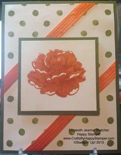 Stampin up stippled blossoms card one sheet wonder card making retiring stamp sets