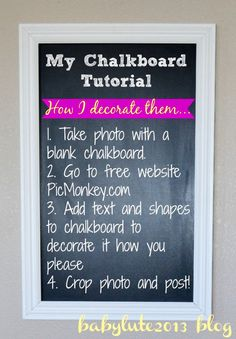 PicMonkey chalkboard tutorial - pregnancy chalkboard