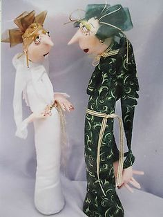 """New Cloth Art Doll Pattern Mildred Flossie """"Aging Angels"""" by Jill Maas Awesome   eBay"""