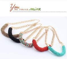 Min.order $10 2013 new bead choker  wholesale exaggerated statement Cylinder necklace chunky fashion for women free shipping-in Choker Neckl...