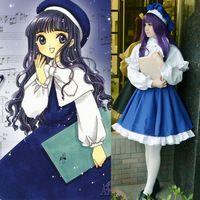Card Captor Sakura Daidouji Tomoyo Uniform Dress Outfit Cosplay Costumes Whole Set
