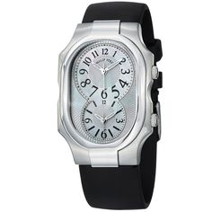 Philip Stein Women's 'Signature' Mother Of Pearl Strap Watch