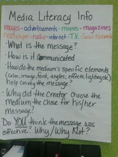 Media Literacy poster