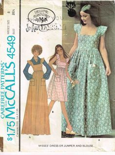 Vintage 1970s Boho Maxi Jumper Dress by Laura Ashley McCalls 4549 Sewing Pattern by PeoplePackages