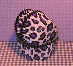 New....Lavender Leopard Print Cupcake by sweettreatssupplies, $4.85