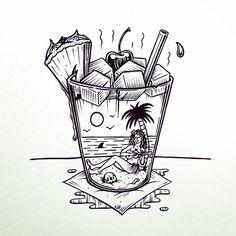 "1,838 Likes, 60 Comments - Jamie Browne (@jamiebrowneart) on Instagram: ""Sunday afternoon ~it's Mai Tai to shine.  #jamiebrowneart #maitai #sunday #arvo #california…"""