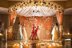 Its not easy finding exclusive Mandap Decor Ideas for your Indoor Wedding! We bring you ideas and inspirations to make your dreams come true. Indian Wedding Theme, Indian Wedding Receptions, Wedding Mandap, Wedding Themes, Wedding Bride, Wedding Cake, Desi Wedding Decor, Wedding Flowers, Tamil Wedding