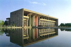 Chandigarh, India High Court designed by Le Corbusier, 1956