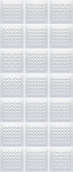 Unico 3D ceramic tiles 2012 on Behance