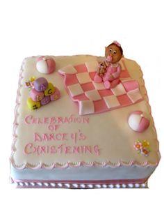Baby Blanket Christening cake