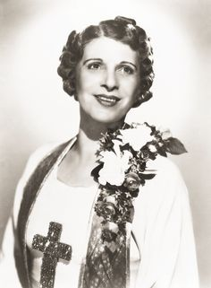 Pentecostal - Aimee Semple McPherson (October 9, 1890 – September 27, 1944), also known as Sister Aimee, was a Canadian-American Los Angeles–based evangelist and media celebrity in the 1920s and 1930s. She founded the Foursquare Church. McPherson was a pioneer in the use of radio, and was the second woman to be granted a broadcast license. She used radio to draw on the growing appeal of popular entertainment in North America and incorporated other forms into her weekly sermons at Angelus Temple.
