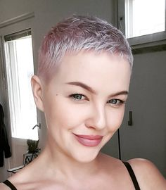 Pixie Haircut Color, Blonde Pixie Haircut, Short Pixie Haircuts, Cute Hairstyles For Short Hair, Fine Hair Cuts, Short Hair Cuts, Short Hair Styles, Really Short Hair, Super Short Hair