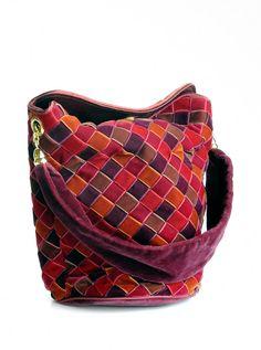 Bottega Veneta Woven Velvet Patchwork style Purse