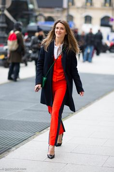 Red Stripe Pants at Haider Ackermann March 27, 2013