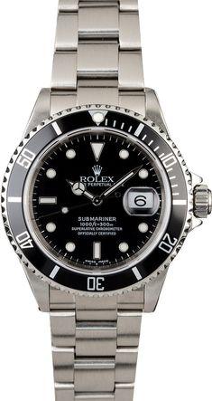 563db5225ac Rolex Submariner Stainless Steel 16610 Watch