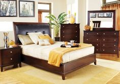 Our new bedroom set - Anderson 5 Pc Upholstered King Bedroom
