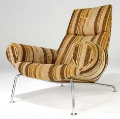 Hans Wegner; Chromed Tubular Metal Hornless 'Ox' Chair for AP Stolen, 1960.